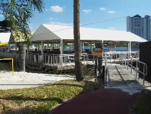 Lakeside Terrace, Wet 'n Wild, Orlando — Our most popular pavilion, Lakeside Pavilion is tucked away in the back of the park, facing our private lake, and seats up to 320 guests. Microphone/sound system located in pavilion.