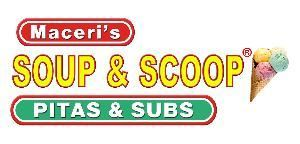 Maceri's Soup & Scoop, Pitas & Subs, Utica — Free Delivery, Soups, Salads, Pitas, Subs, Pasta, Meatballs, Desserts, Party Subs, & More. Located on the Northwest corner of 21 Mile & Hayes in Shelby Township, Michigan.