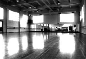 Dance Studio, Multnomah Arts Center, Portland — The dance studio is available for dance rehearsals or classes such as aerobics, yoga, or ballet. It has 2400 square feet of floor space, lots of light, wood floors, mirrors and ballet barres. It is not available for events with food, drink, tables or chairs. Room capacity is 150 people.