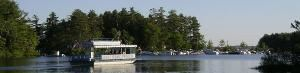 "Point Sebago Princess, Point Sebago Resort, Casco — The ""Princess"" is our custom-built 95-passenger cruise boat."