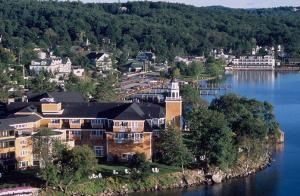 The Inns & Spa At Mill Falls, Meredith — Aerial view of Meredith Bay with Church Landing in the forefront.
