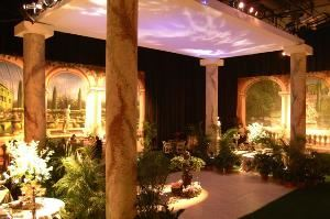 Magic Special Events, Richmond — Our Renaissance Garden Theme is one example of the many themes and decor options available at Magic Special Events.