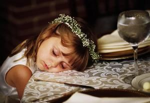 Dennis Drenner Photographs, Baltimore — little girl asleep at wedding
