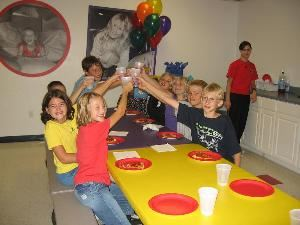 BounceU, Omaha — Kids Toast at Birthday Party