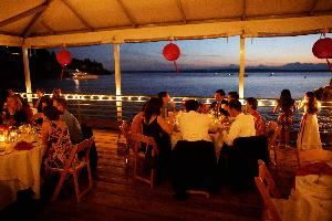 Northwest Room (private banquet room), Ray's Boathouse, Cafe & Catering, Seattle — Northwest Room canopied deck