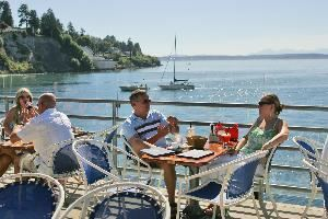 Ray's Cafe (casual dining restaurant), Ray's Boathouse, Cafe & Catering, Seattle — Ray's Cafe - deck dining