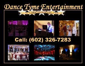 A Dance Tyme Entertainment, Scottsdale — Each Wedding or Corporate Event we do is Custom Built to each event, at no extra charge. We have a 100% customer satisfaction rating. We are used by Pro Athletes, Stars, Clubs, 5 Star Resorts, High schools and Arizona reidents for their house parties and look forward to working with you...