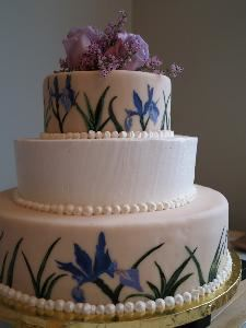 Savoy Events, Oakland — Hand painted wedding cake.