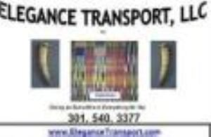 "Elegance Transport, LLC, Germantown — Our Logo above incorporates two major elements: Two elephant trunks signifying dignity, royalty, strength, wisdom and longevity reflect our mind-set in relation to our clients. Adwinasa, the name of the Kente cloth motif of Ghana, connotes the use-up of all available designs. At Elegance Transport, we similarly use all available means to serve you elegantly (""Going an Extra Mile in Everything for you"")."
