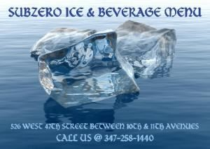Subzero Ice & Beverage, New York — We are a new and modern full service ICE & BEVERAGE COMPANY that provides packaged ice, dry ice & beverages (soda, juice, water, red bull)