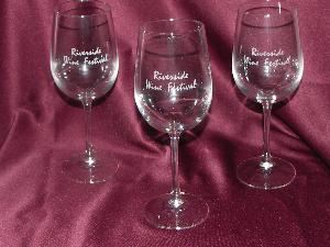 Creative Engravings, Jacksonville — Engraved Glassware Provider for the Riverside Wine Festival 2008.