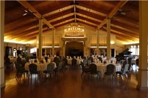 Alhambra Music Room, Ironstone Vineyards, Murphys — Alhambra Music room set up for a dance floor in the center with a view of the organ.