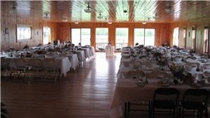 JDC's Just Delicious Catering, Lake Elmore — Applecheek Banquet Hall with seating up to 120. Beautiful mountain view and fields nearby. Located on an Organic Dairy Farm in Vermont.