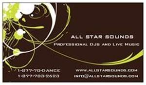 ALL STAR SOUNDS, New York — ALL STAR SOUNDS PROFESSIONAL DJs AND LIVE MUSIC