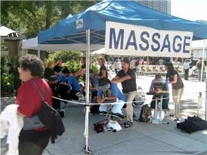 Earthmagic On-Site Chair Massage, Toronto — We deliver chair massage for special events across Canada. Our Pleasant, Certified & Insured practitioners offer a wonderful massage for your event.  Whether you need to attract people to your trade show booth, add a special touch to your event or wish to reward your employees for a job well done, our team has the experience and expertise to get the job done!