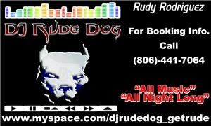DJ Rude Dog Mobile Dj Service, Lubbock