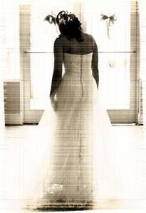Bliss Photography LLC, Greenville — bride walking into light in old fashin photo finish