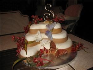 Long L Ranch, Clear Spring — one of the cakes I made here on the ranch. 2008 wedding