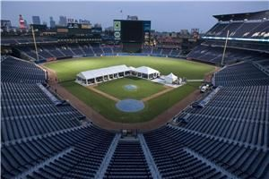On-field Dinners, Turner Field, Atlanta