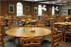 Stevens-Pike Dining Room, Asbury Theological Seminary, Wilmore — The Stevens-Pike Dining Room features seating for 250 (expandable to 350) and features built-in audio/visual equipment.