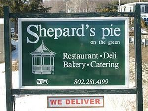 Shepard's Pie on the Green, Quechee — A quaint restaurant and deli in Quechee, VT. Open everyday. Enjoy our full menu for take out or eat in. We deliver and provide full catering services as well. Please use our Free WiFi while your visiting.