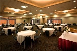 Ramada Hotel & Conference Center, Albuquerque — Our 145-room NE Heights property offers a mix of oversized 100% Smoke-Free Standard and Upgraded rooms along with 4,100+ s/f of meeting space. The convention center can accommodate Meetings, Reunions, Receptions and Weddings from 24 people up to 200 people. The center also has three meeting rooms: 1) the Emerald – 1,012 square feet; 2) the Crystal – 1,032 square feet; and 3) the Kiva – 2,064 square feet. All three rooms open up to form the Ballroom totaling 4,100+ square feet. We also have the Sandia room (368 square feet) that can accommodate smaller groups and receptions.