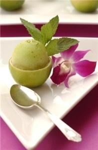 Lady Liberty Catering and Event Planning, Studio City — Green Apple Sorbet with Fresh Mint