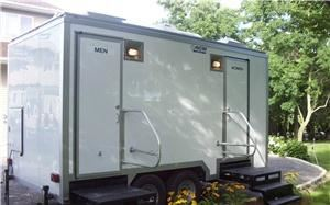 A Royal Flush, Bridgeport — This is one of our restroom trailers, which are available for rental, in two types of interiors.