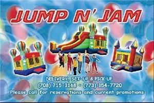 Jump N' Jam Inflatables, Matteson — Jump N' Jam is a family owned and operated inflatable rental company located in the south suburbs of Chicago.  These inflatables are often called jumpers, bouncers, or moonwalks and kids love them. We also have obstacles courses and combo units.  
