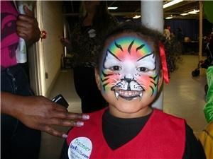 Fun Faces... Face Painting, Balloon Art & More!, Jacksonville — Rainbow Tiger