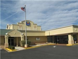 Comfort Inn Millennium, Greenville — Main entrance to hotel and entrance to Crown Ballroom