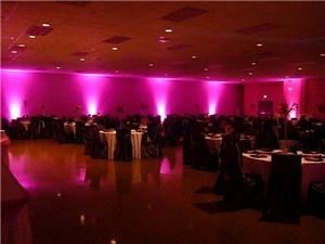 Hamilton Audio Systems, Bedford — Uplighting for wedding reception. Other examples of our work can be found at www.HamiltonSystems.us