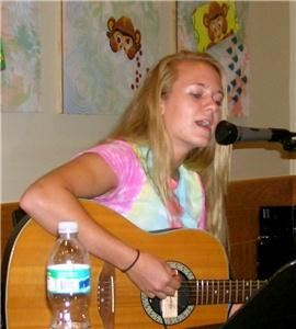 Annie Greene, Gainesville — Annie playing acoustic guitar and singing at Starbucks in Palm Beach Gardens, FL. Summer 2008