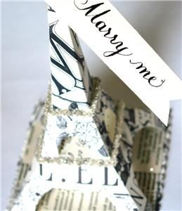 bumble B design, Seattle — handcrafted Eiffel Tower cake-topper
