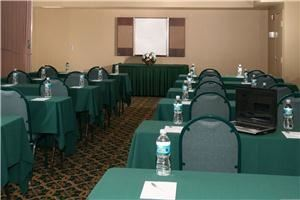 Hampton Meeting Room, Hampton Inn St. Augustine Beach, Saint Augustine — Our 1,000 sq. ft. of meeting space has a maximum seating capacity of 80 people banquet style. This room can be subdivided into four sections of 250 sq. ft. each.