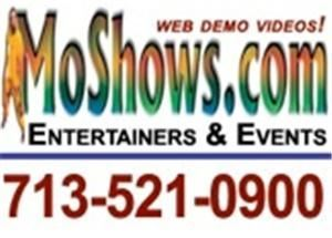 MoShows . com: Musicians, DJs & Shows, Houston — MoShows.com is an artist management and booking firm with web demos of great musicians, speakers, poets, cultural exhibits, hypnotists, dancers, DJs and one person shows for special events. Most popular in Houston: MUSIC: Joe Carmouche Band, D.R.U.M., Jawad, Tony Henry, Cassandra Tyson, Kijana Wiseman, Shinar Steel Drums, Tweed Smith, Rickey Ford, Terry Parker, Louie Carrington, Michael White, Charlie Berry, Janie Frazier, Lajuan Law, Cynthia Smith Gospel, DJ Tony Martinez, etc.... SPEAKERS, ETC: Poet Marie Brown,  Gerra Gistand, Mikki Holland, Darian Ward, Cinnamon the Clown, Jew Don Boney, etc
