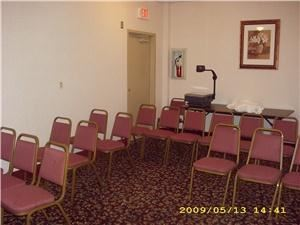 Quality Inn And Suites, Florence — This is a 10x8 meeting room that can accomodate 10 people classroom style or 20 people theater style.