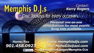 Memphis DJs, Memphis — When you are ready to get married call on the best that Memphis has to offer, Memphis DJs. At the moment we are experiencing contact and booking form issues on our web site. Please call me personally and I will get the information we need to get you booked with one of the best DJs that Memphis has to offer. 901.458.0923