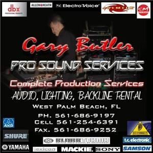 Gary Butler Pro Sound Services, West Palm Beach — Gary Butler Pro Sound Services.