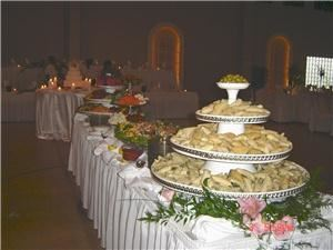 Mug & Muffin Café & Catering, Greenville — A full service caterer in Greenville SC.  This photo shows a fancy appetizer buffet for a wedding that served over 300 persons.