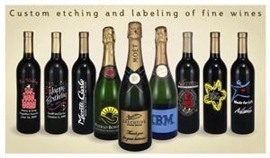 Etching Expressions, San Diego — Etched wine bottle examples. Fully customize your bottles with anything you like for a great gift for any occasion!