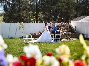 Courtyard, Angel's View Wedding Chapel, Sevierville