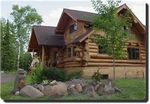 Superior Gateway Lodge, Two Harbors — Superior Gateway Lodge opened June 1, 2009.  This 3,800 square foot custom built log lodge event center and Bed and Breakfast is a first for our area.  Nestled in the woods just northeast of Two Harbors, the lodge is conveniently located for resident and travelers of the North Shore.  Joe and Pat Richter, the owners, feel that the lodge will fill a niche as an event facility, such as retreats, seminars, reunions, crafting classes, and even weddings. The lodge has three master suites.