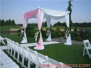 RoseChairDecor.com - Maple Ridge, Maple Ridge — We carry many specialty rental items such as: Chuppahs, Archways, Pillars (Roman and White), Aisle Runners, Backdrops, Candelabras and more!