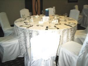 Green Thumb Florist & Decor - Vaughan, Vaughan — Rentals include chaircovers, overlays, sashes, and ask about coordinating centerpieces.