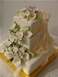 Cynthia's Elegant Cakes, Hermiston — Three cake flavors: pink champagne,sweet lemon,almond butter.