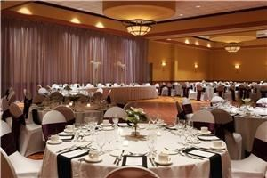 Dapper, Courtyard by Marriott Omaha - La Vista, La Vista — Our dapper ballroom, located in the La Vista Conference Center, is a popular venue for banquets & wedding receptions