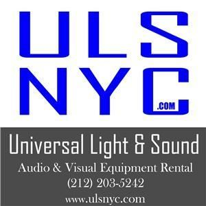 Universal Light And Sound, New York — From speakers to microphones, and projectors to plasma TV's, Universal Light and Sound provides state-of-the-art equipment guaranteed to provide crisp, high-quality sound and vibrant lighting for your event.