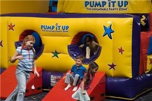 Entire Facility, Pump It Up of West Chester, West Chester — Pump It Up of West Chester is the ONLY indoor inflatable party place with 100% private parties, five GIANT inflatables and a 20ft Rock Climbing Wall.