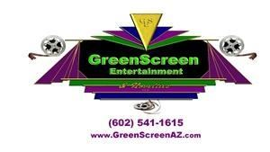 GreenScreen Entertainment & Novelties, LLC, Phoenix — GreenScreen Entertainment & Novelties rapidly produces a variety of unique, high-quality gifts for guests ON-SITE at events in a very entertaining format.  Choose from: Photographic Products (Magazine Covers; PhotoFun; Photographic Tee Shirts), Video Products (Make-Your-Own Music Video; ActionPages Flip Books; ActionCycle Motorcycle Ride, Jet Ski, or Snow Mobile), and Non-Photographic Products (Custom Personalized or Airbrush Tee Shirts, Hats, and Clothing; Airbrush Tattoos; Select-A-Date Time Machine; and Name Game).  Custom art can be created on all products.  Off-site products available as well.  Affordable pricing.  Have your guests come to the party and go home with a great gift!!!!!  Contact us now!